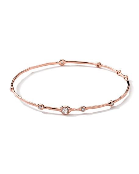 18K Rose Gold 9-Diamond Bangle (0.5ctw)