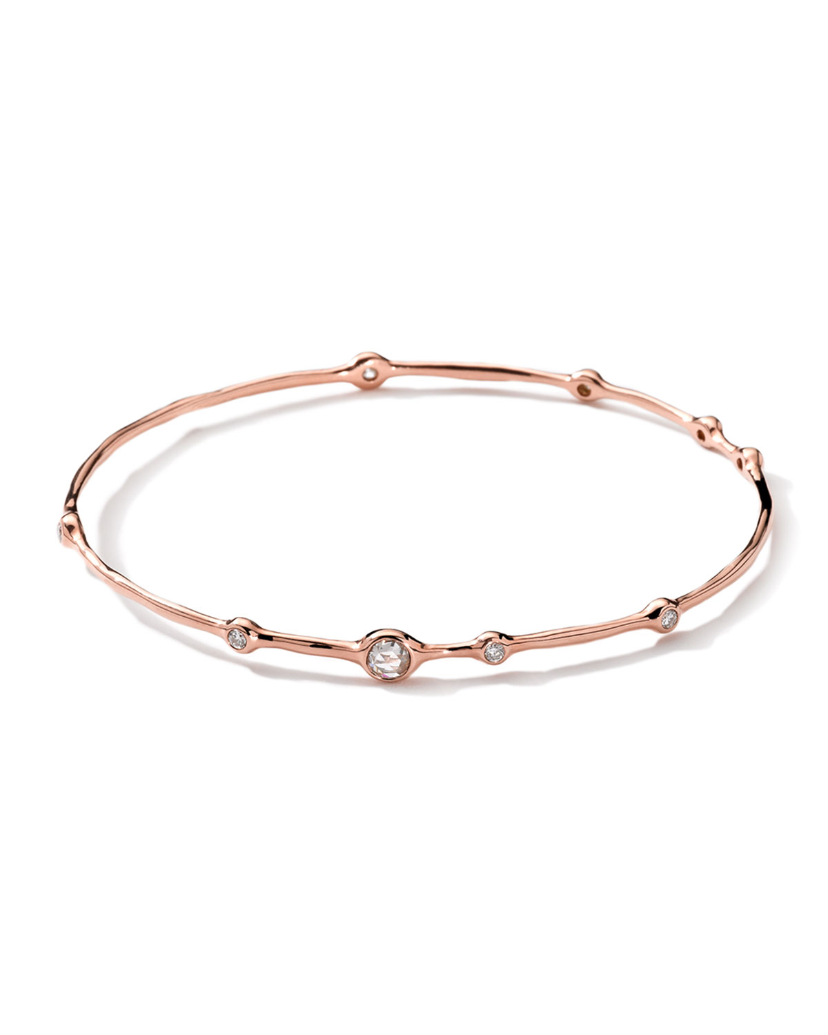 18k Rose Gold 9 Diamond Bangle 0 5ctw