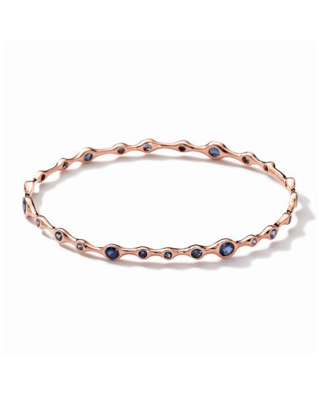 Tiny Bubbles 18k Rose Gold Blue Sapphire Bangle