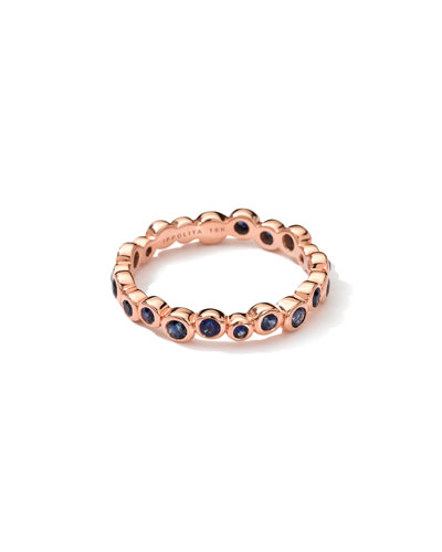 Ippolita 18K Rose Gold Starlet Ring in Blue Sapphire