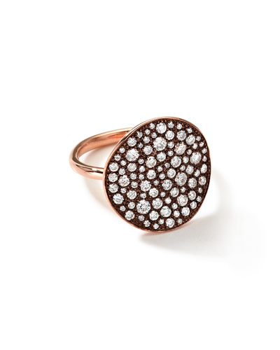 Ippolita 18k Rose Gold Stardust Flower Ring with Diamonds