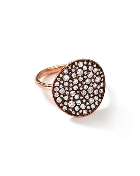 18k Rose Gold Stardust Flower Ring with Diamonds (1.23 ct)