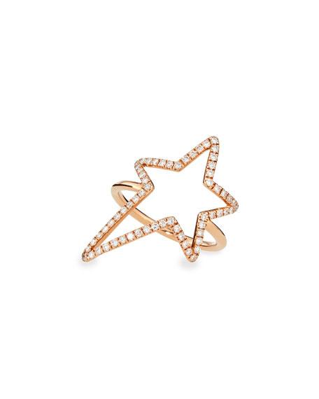 Diane Kordas Rose Gold Diamond-Star Ring, Sz 6