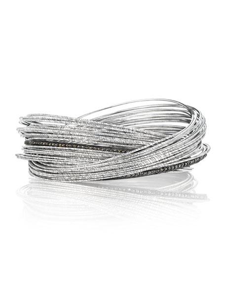 Spring Sterling Silver Bracelet w/ Interlaced Stacks