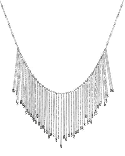 COOMI Spring Sterling Silver Necklace with Diamonds, Large