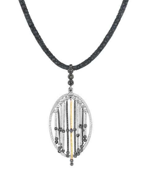 COOMI Spring Silver & Gold Pendant with Diamonds