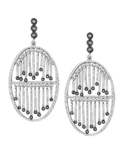 COOMI Spring Silver Double-Stick Diamond Earrings