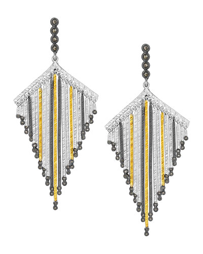 COOMI Spring Tricolor Statement Earrings with Diamonds