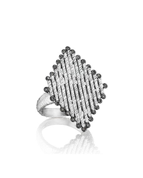 COOMI Spring Silver Diamond-Shaped Ring & Matching Items