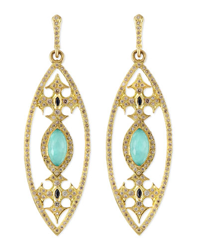 Armenta Marquise Maltese Cross Earrings