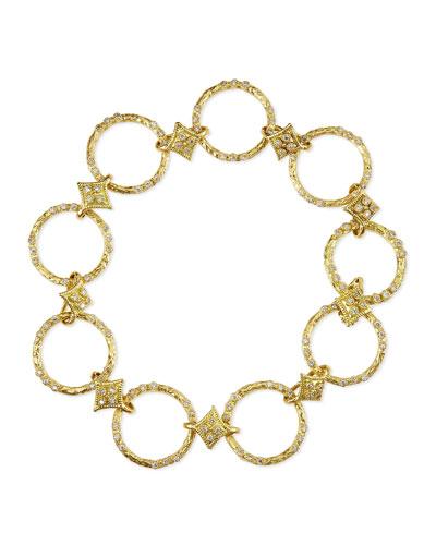 Armenta Dulcinea Circle-Link Diamond Bracelet