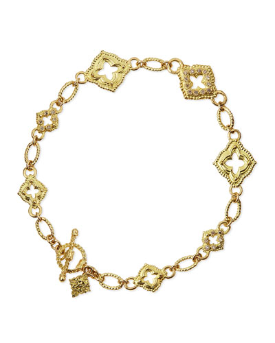 Armenta 18k Sculpted Scroll Bracelet w/Diamonds