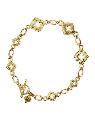 Armenta 18k Sculpted Scroll Bracelet w/Diamonds