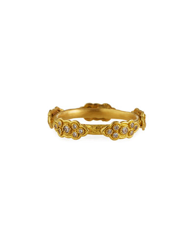 Armenta 18k Yellow Gold Stackable Ring with Diamond Scrolls
