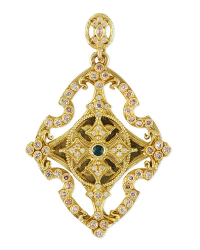 Armenta Sueno 18k Yellow Gold & Diamond Cross Enhancer