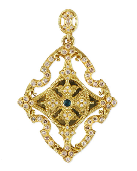 Armenta Sueno 18k Yellow Gold & Diamond Cross