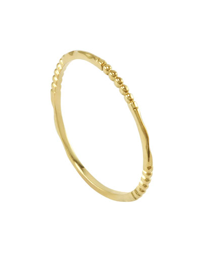 Lagos 18k Gold Caviar 3-Station Stackable Ring