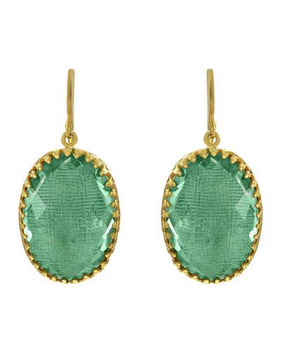 Small Lily Drop Earrings, Celadon