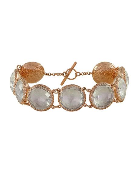 Larkspur & Hawk Olivia Gold-Washed Topaz Button Bracelet,