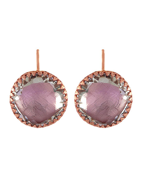 Olivia Gold-Washed Topaz Button Earrings, Ballet