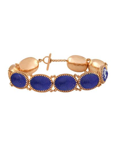Larkspur & Hawk Lily Gold-Washed Topaz Bracelet, Cobalt