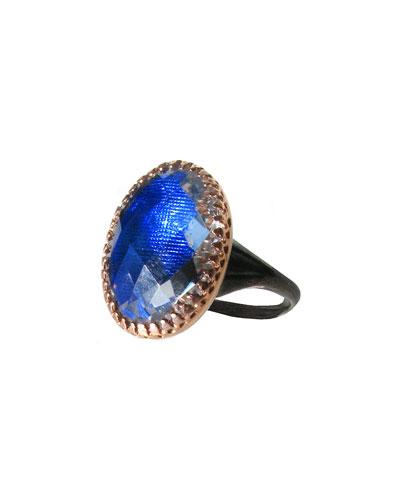 Larkspur & Hawk Anabel Gold-Washed Topaz Ring, Cobalt