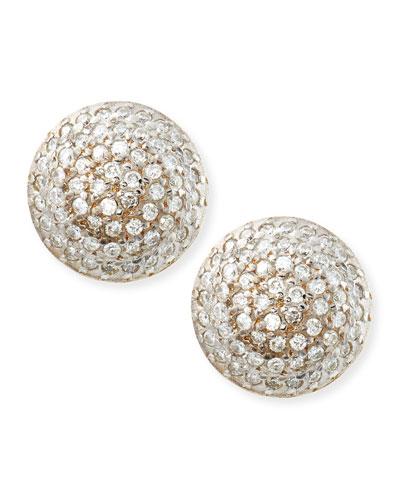 Gurhan Lentil Ice 24k Gold & Diamond Button Earrings