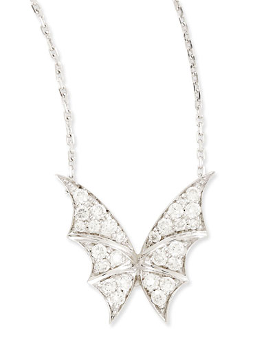 Stephen Webster Fly By Night Mini Flutter Bat-Moth Pendant Necklace