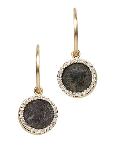 COOMI Antiquity 20k Flip Coin Earrings with Diamonds
