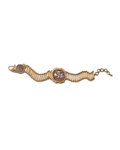COOMI Antiquity 20k Coin Bracelet with Diamonds