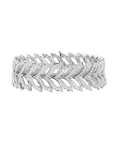 Magnipheasant White Gold Pave Diamond Tennis Bracelet