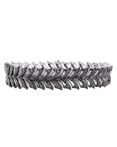 Stephen Webster Magnipheasant White Gold Pave Black Diamond Tennis Bracelet