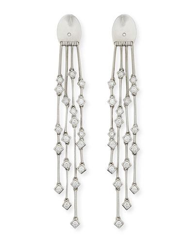 Platinum Heart Diamond-Fringe Earring Backs
