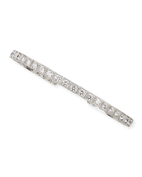 18k White Gold Flex Bangle with White Diamonds