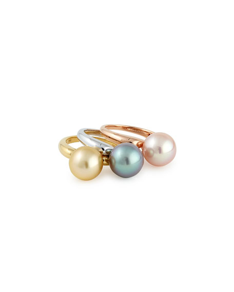 Gwyneth Slim Stacked Ring Collection, Set of 3