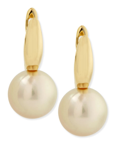 Gwyneth Golden Pearl Earrings