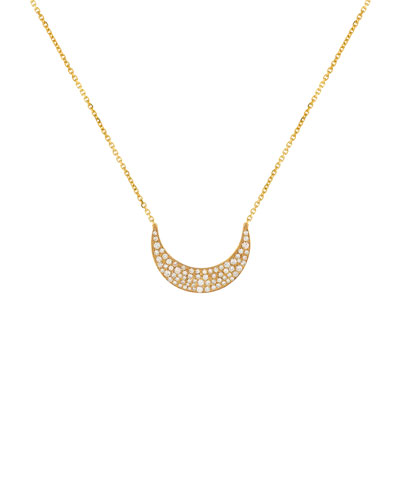 Noor Fares Fly Me To The Moon Diamond Pendant Necklace