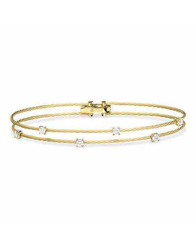 18k Gold Double Unity Diamond Bracelet