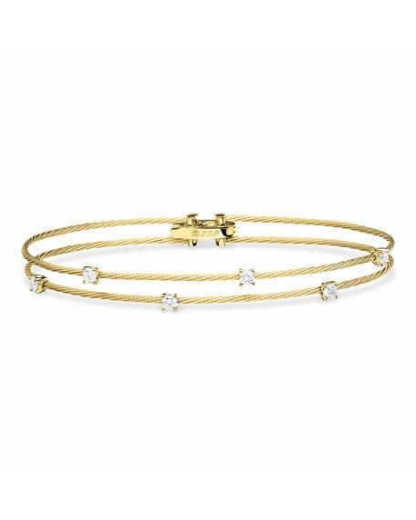 Paul Morelli 18k Gold Double Unity Diamond Bracelet
