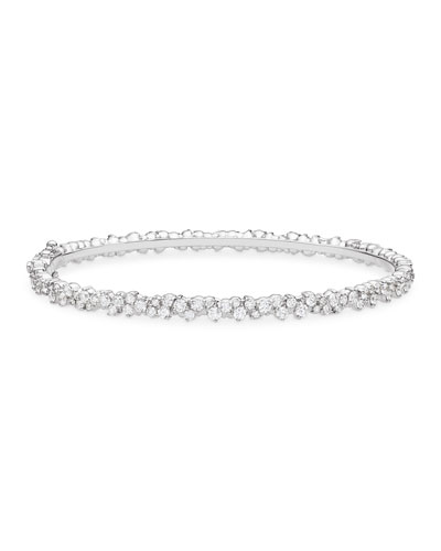 Confetti 18k White Gold & Diamond Bangle Bracelet