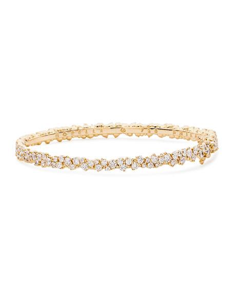 Confetti 18k Yellow Gold & Diamond Bangle Bracelet