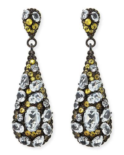 MCL by Matthew Campbell Laurenza Yellow Sapphire & White Topaz Teardrop Earrings