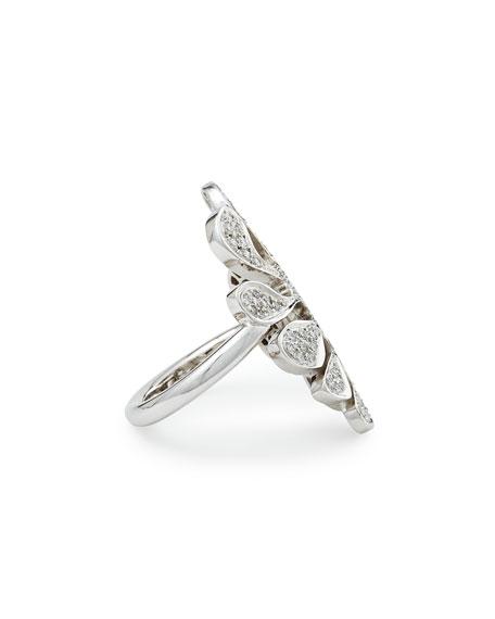 Sealeaf Collection 18k White Gold Diamond Ring