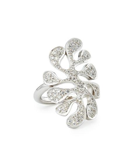 Miseno Sealeaf Collection 18k White Gold Diamond Ring