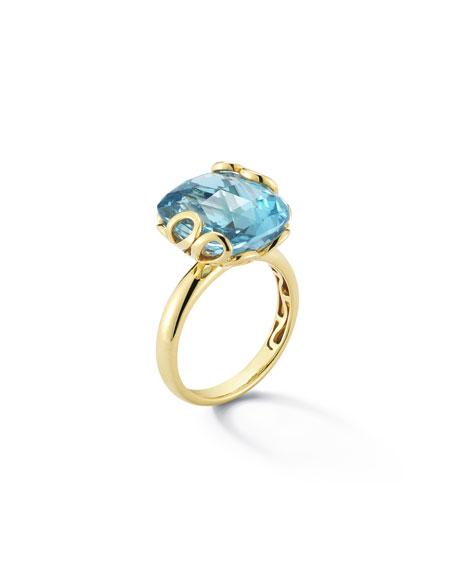Miseno Sealeaf Collection 18k Yellow Gold & Blue