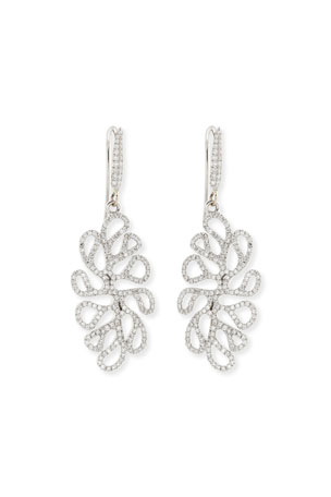 Miseno Sealeaf Collection 18k White Gold Diamond Earrings