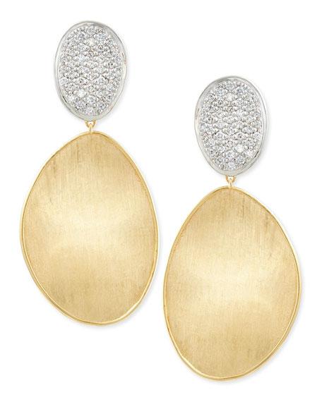 Marco Bicego Large Diamond Lunaria 18k Gold Double-Drop
