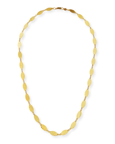 Willow 24k Gold Leafy Necklace