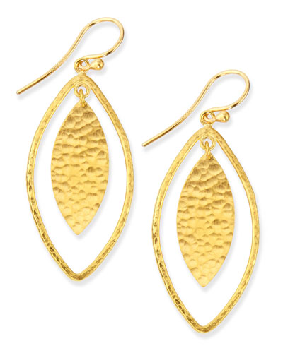 Willow Geo Marquise Drop Earrings