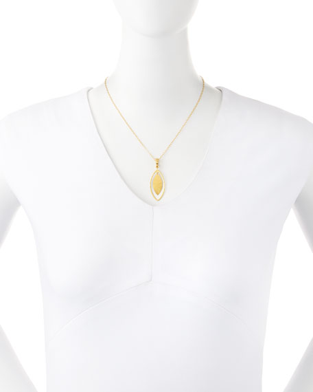 Willow Geo 24k Gold Pendant Necklace
